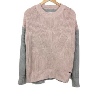 SUPERDRY Nordic Pink Colorblock Sweater